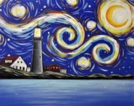 Wimberley Rose, Starry Night Lighthouse for 10,21,18 WWD