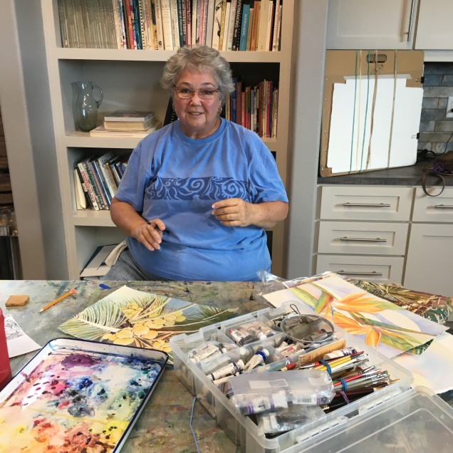 Nancy Buskey Teacher Watercolor Class