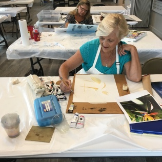 Nancy Buskey Watercolor Class Student